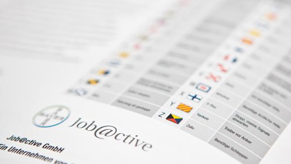 Referenz Broschüre und Folder: Jobactive